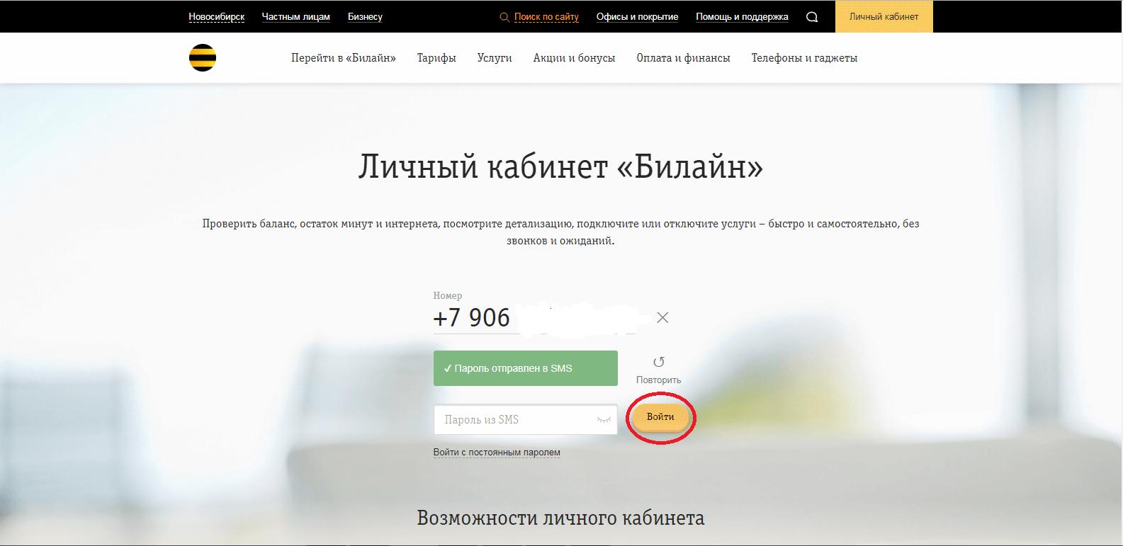 Билайн личный кабинет Ульяновск